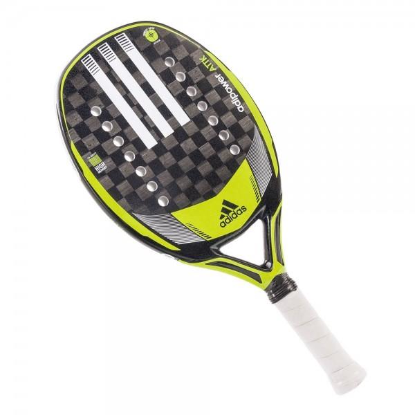 rb1ga1 raquete de beach tennis adidas adipower attk preta e limao