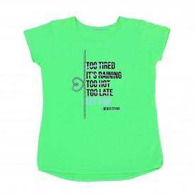 camiseta verde feminina